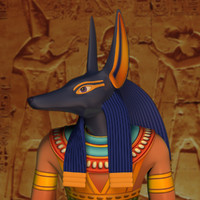 anubis modeled 3d model