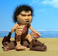 caveman man 3d model