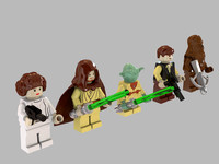 2 minifigure lego star wars 3d 3ds