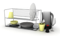 kitchen dishes rack