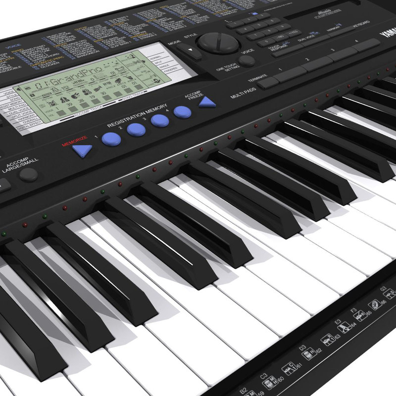 Keyboard yamaha psr 3d model for Yamaha piano keyboard models