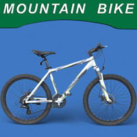 realistic mountain bike modeled 3d model