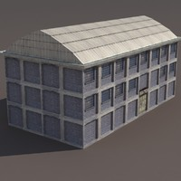 factory modular modeled 3d model