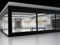 3d model of armani shop