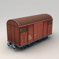 Lowpoly Cargo Wagon
