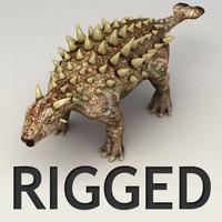 Ankylosaurus lowpoly rigged