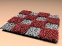 3d model fur rugs