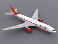 3d model of aircraft air india
