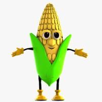 3d corn character model