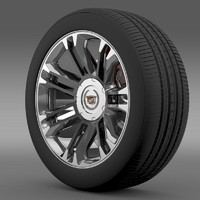 cadillac escalade 2013 wheel 3d fbx
