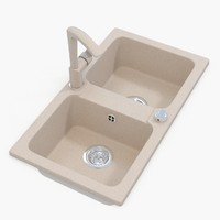 3d model v-ray kitchen sink tap