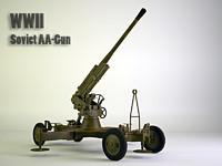 85 mm Soviet WW2 anti-aircraft gun
