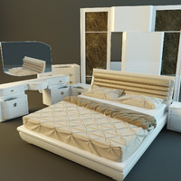 furniture bedroom rubino treci 3d model