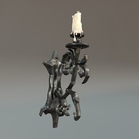 3d model iron thorn decorated