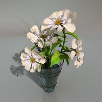 c4d flower vase