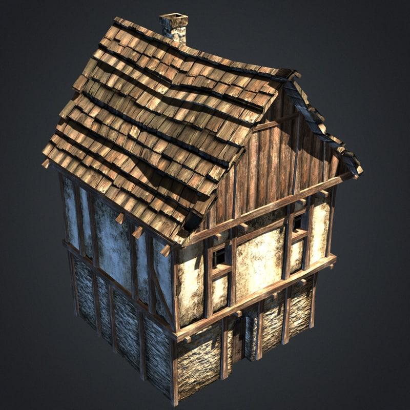 3d model medieval house House 3d model