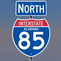 interstate 85 signs 3d c4d