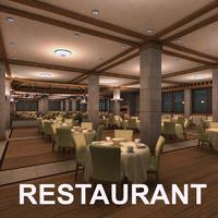3dsmax restaurant table