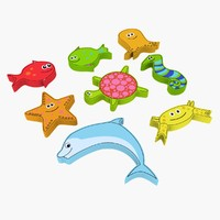 sea creature magnet toy 3d max