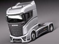 3d model 2014 scania r