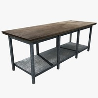 3d workbench work table model