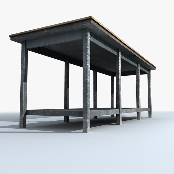 workbench work table 3d 3ds - Workbench... by Firelight.Studio