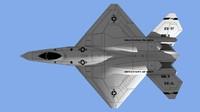 3d yf-23 aircraft model