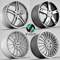 3d model aez wheel rims