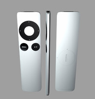 remote apple tv 3d model