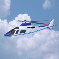 3ds max agusta aw109 helicopter