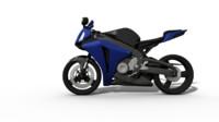 obj blue cbr1000rr motorbike