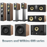 3d model of bowers wilkins 600 series