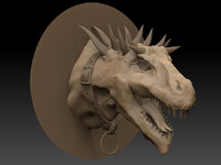 3d model zbrush dragon head