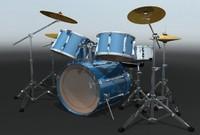 3d drum kit model
