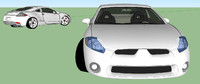 3d mitsubishi eclipse model