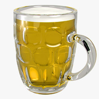 3ds british glasses mugs beer