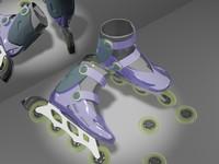 rollerblade 3d model