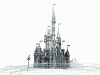 fairytale castle 3d model