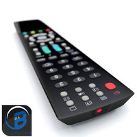 tv remote obj