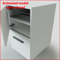 rack drawer 3d 3ds
