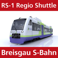 rs-1 regio shuttle passenger train c4d