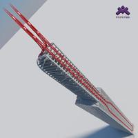 Futuristic Sci-Fi Skyscraper 5