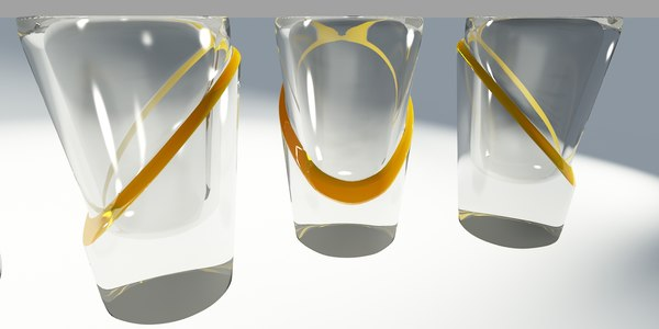 lemon shot glass 3d 3ds - shot... by oender