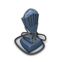 Retro microphone 03