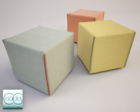 square pouf 3ds