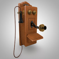 old wall phone 3d model