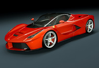 3d model ferrari laferrari la