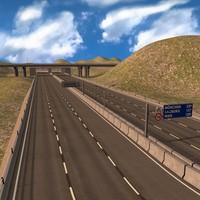 motorway street road c4d
