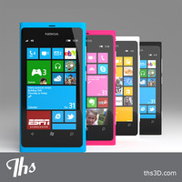 nokia lumia 800 phone 3d obj
