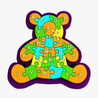 bear puzzle toy 3d model